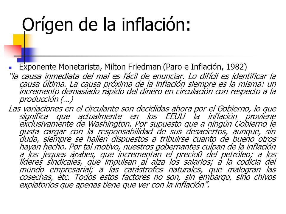 Orígen de la inflación: