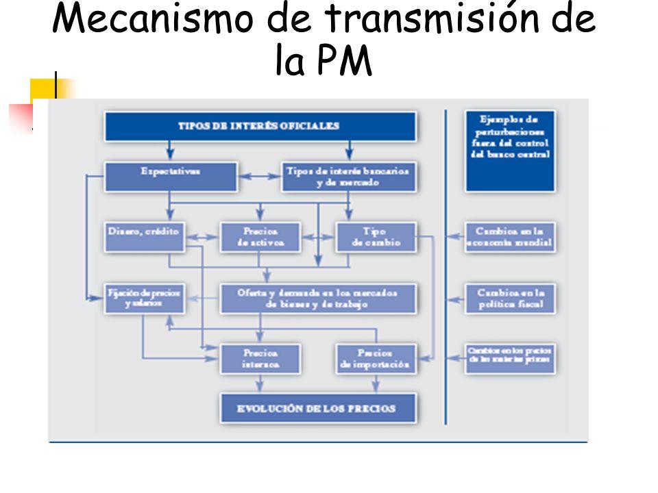 Mecanismo de transmisión de la PM