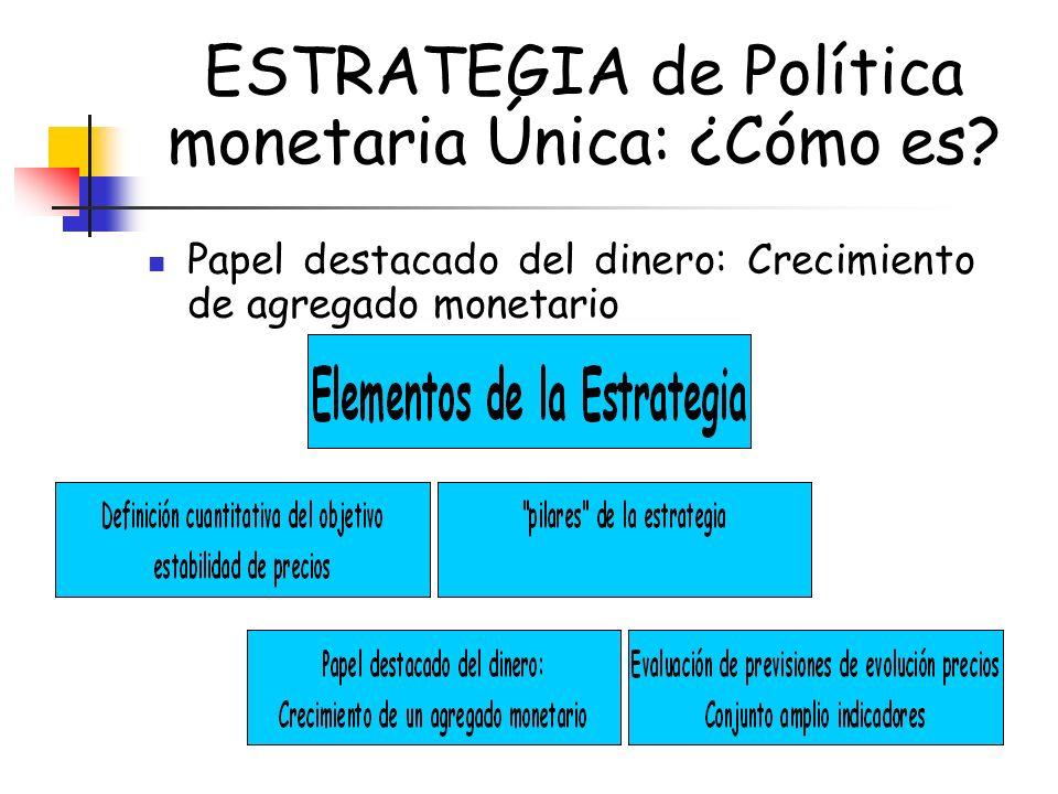 ESTRATEGIA de Política monetaria Única: ¿Cómo es