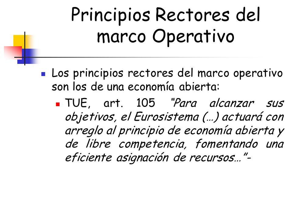 Principios Rectores del marco Operativo