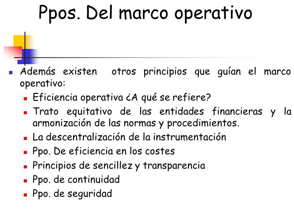 Ppos. Del marco operativo