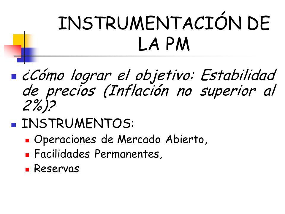 INSTRUMENTACIÓN DE LA PM