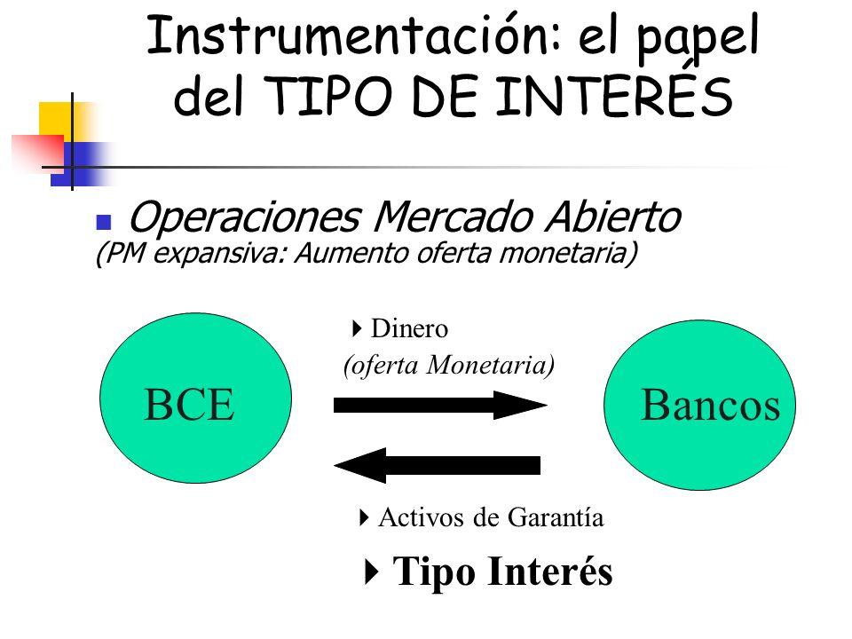 Instrumentación: el papel del TIPO DE INTERÉS