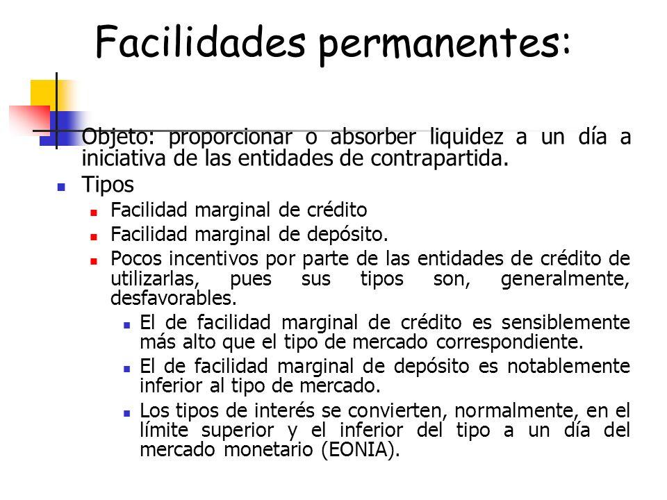Facilidades permanentes: