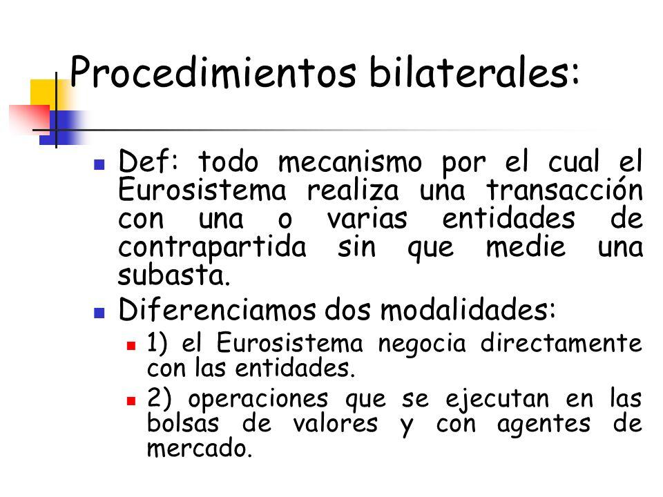 Procedimientos bilaterales: