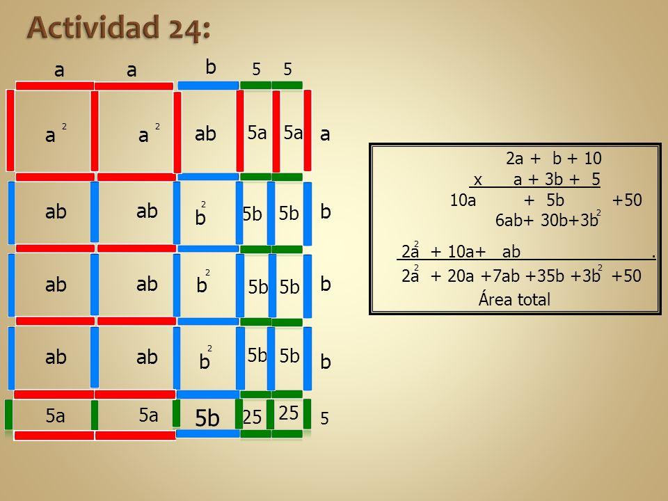 Actividad 24: 5b a b a a ab ab ab b b ab ab ab ab b 5a 5a 5b 5b 5b 5b