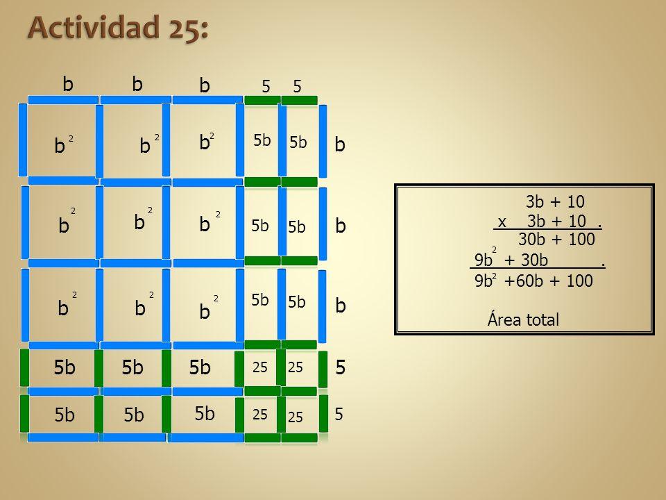 Actividad 25: b b b b b b b b b b 5b 5b 5b 5b 5b 5b 5 Área total