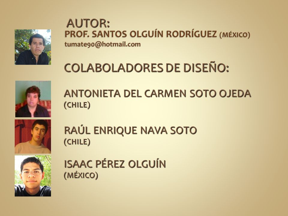PROF. SANTOS OLGUÍN RODRÍGUEZ (MÉXICO) tumate90@hotmail.com