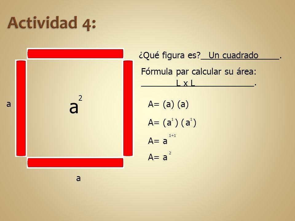 a Actividad 4: ¿Qué figura es ________________. Un cuadrado