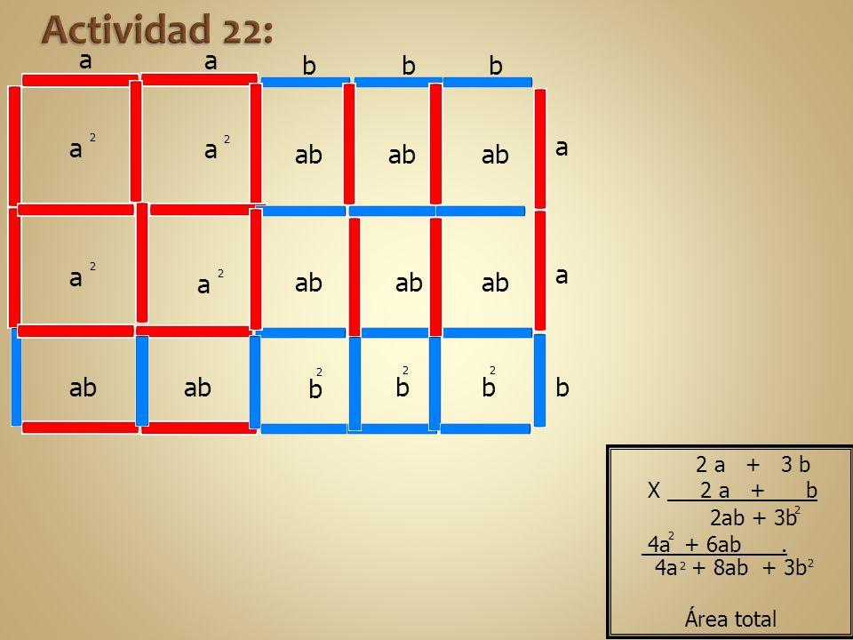 Actividad 22: a a b b b a a a ab ab ab a a a ab ab ab b b b ab ab b