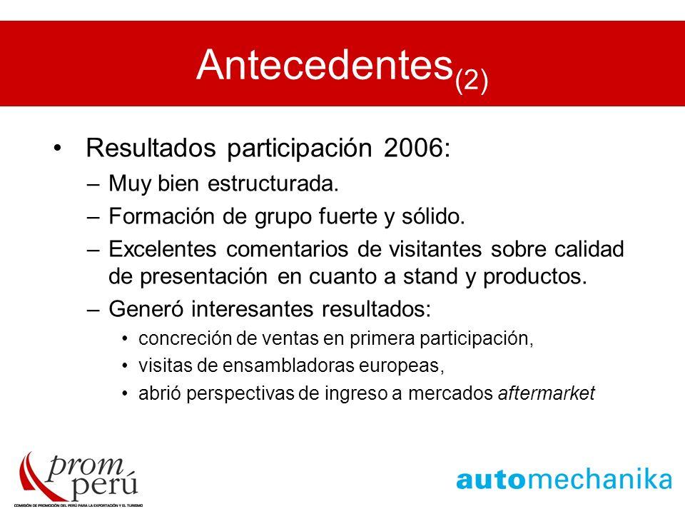 Antecedentes(2) Resultados participación 2006: Muy bien estructurada.