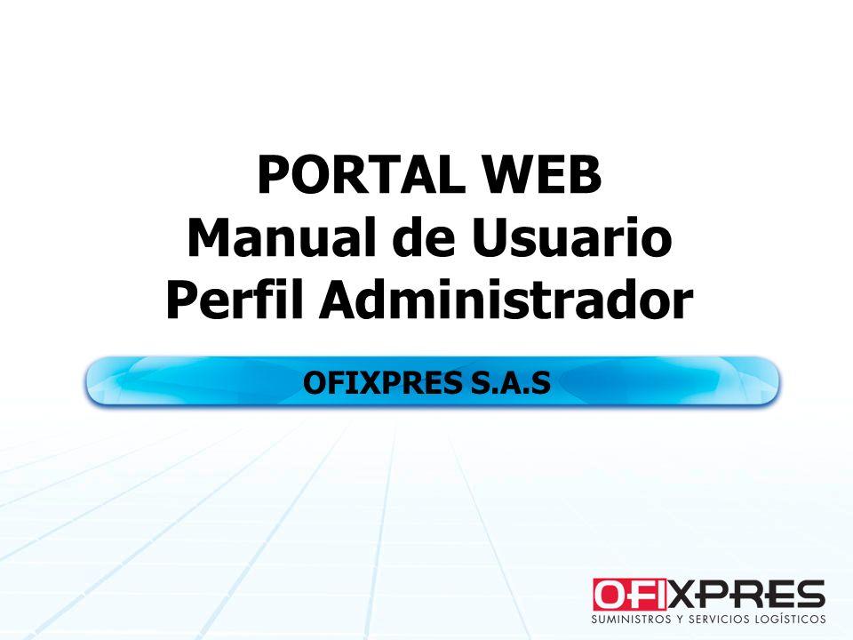 PORTAL WEB Manual de Usuario Perfil Administrador