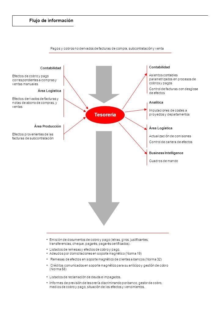 Tesorería Flujo de información