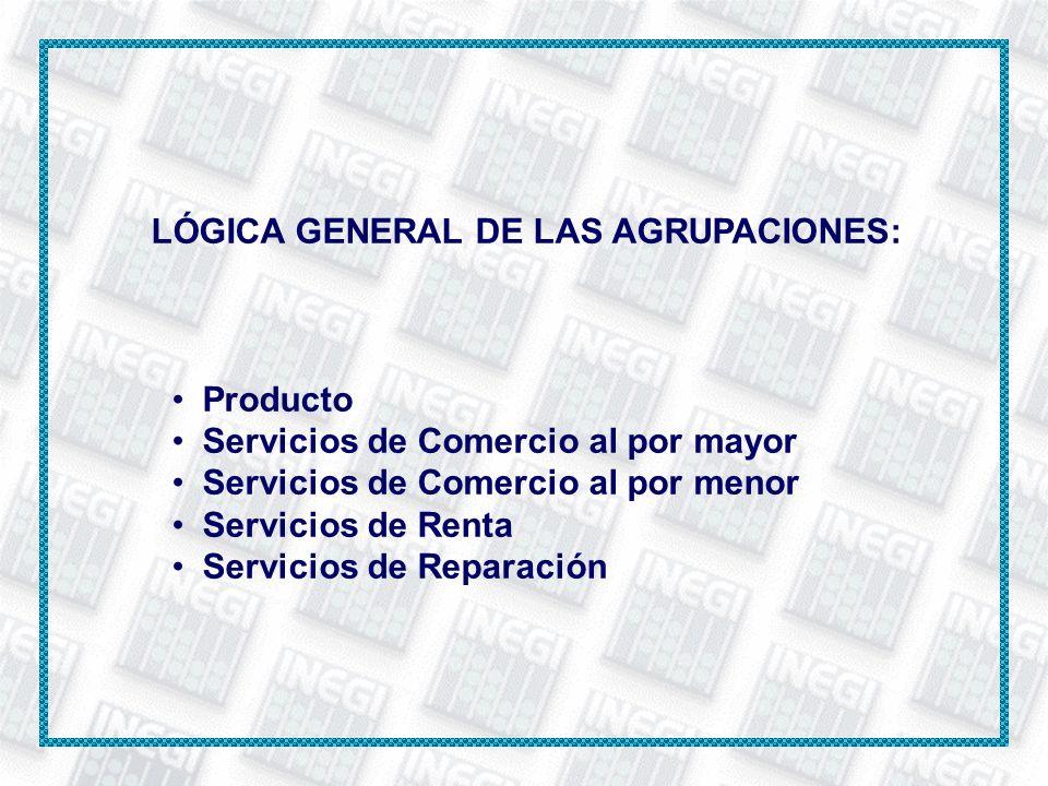 LÓGICA GENERAL DE LAS AGRUPACIONES: