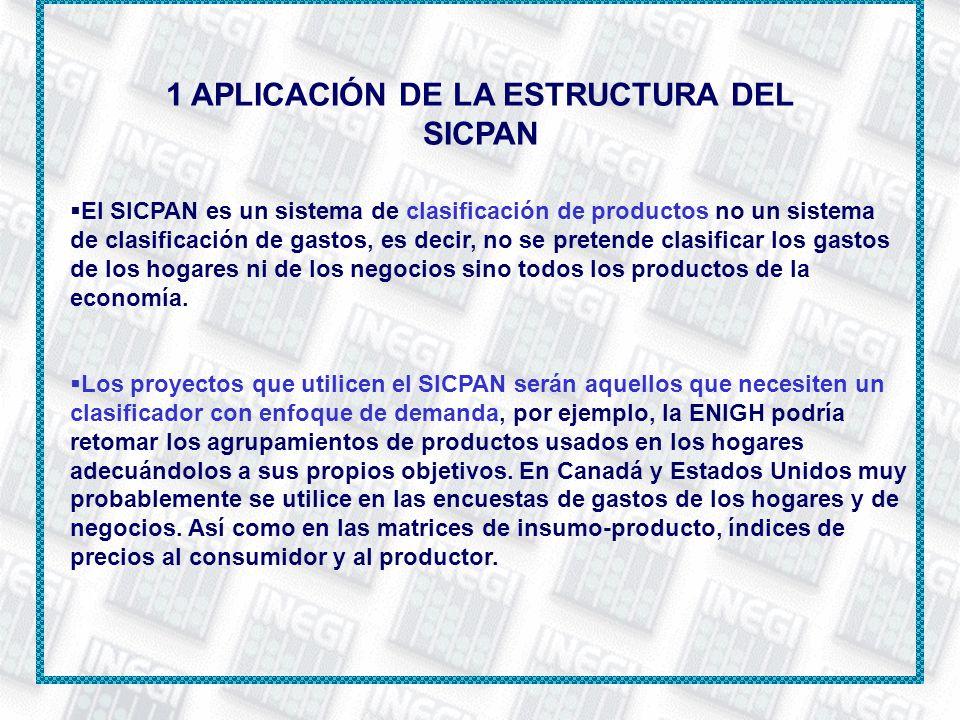 1 APLICACIÓN DE LA ESTRUCTURA DEL SICPAN