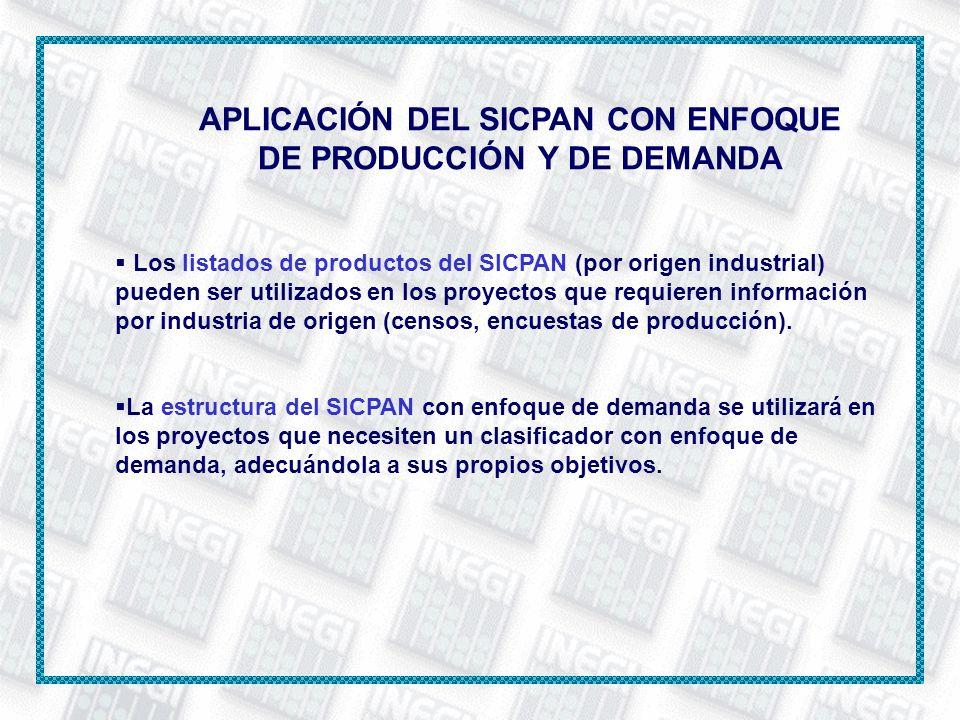 APLICACIÓN DEL SICPAN CON ENFOQUE DE PRODUCCIÓN Y DE DEMANDA