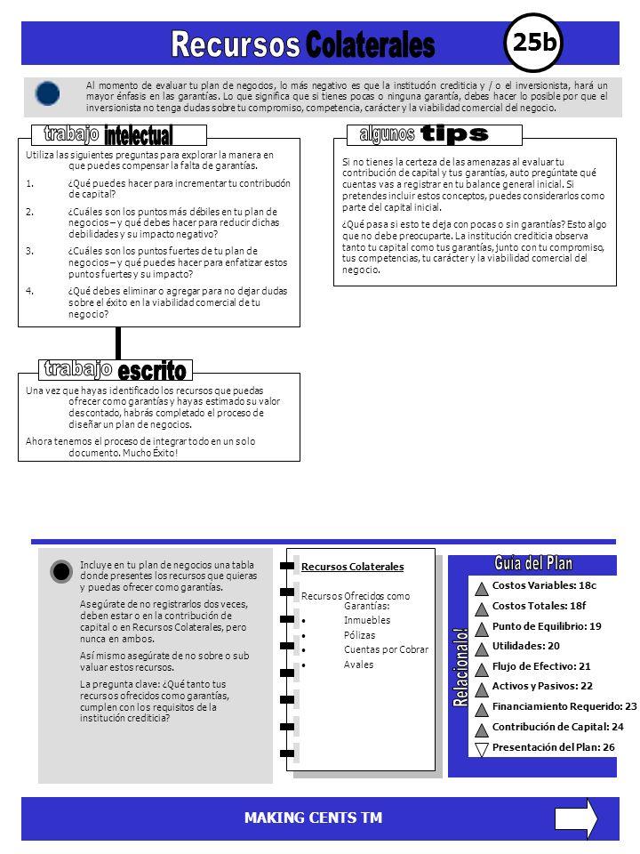 25b Recursos Colaterales trabajo intelectual algunos tips trabajo