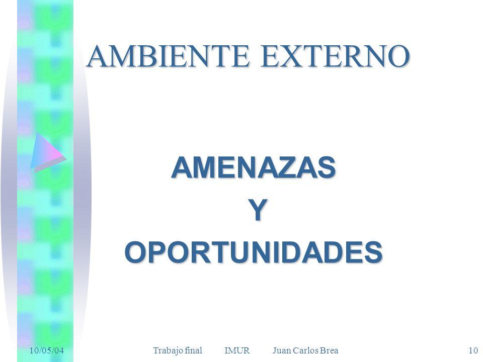 AMENAZAS Y OPORTUNIDADES