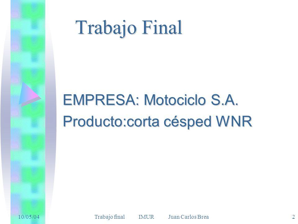 EMPRESA: Motociclo S.A. Producto:corta césped WNR