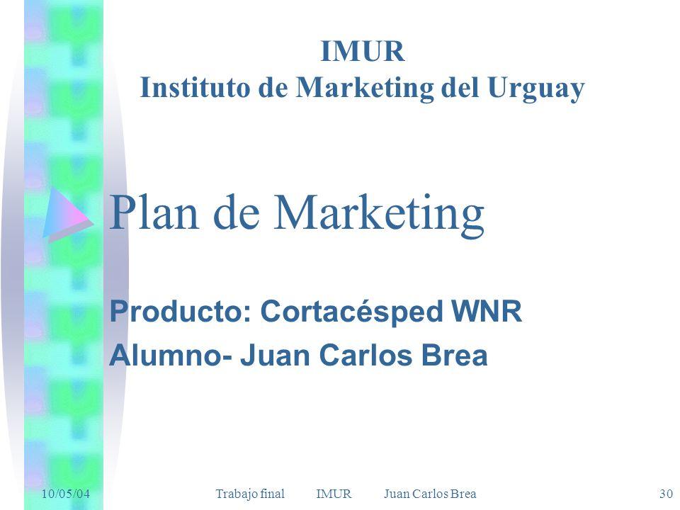 Producto: Cortacésped WNR Alumno- Juan Carlos Brea