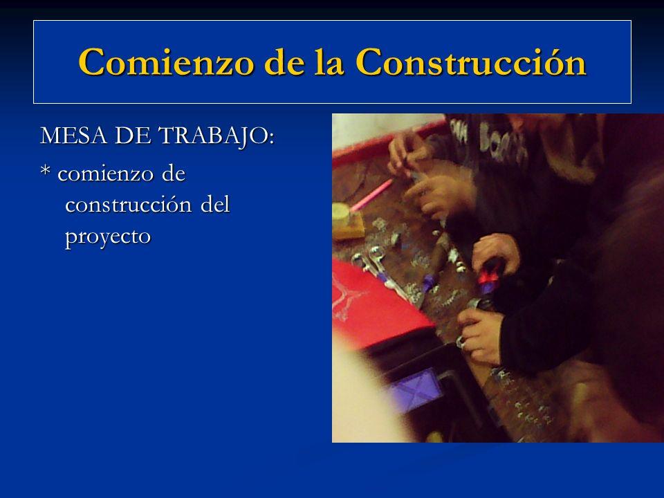 Comienzo de la Construcción