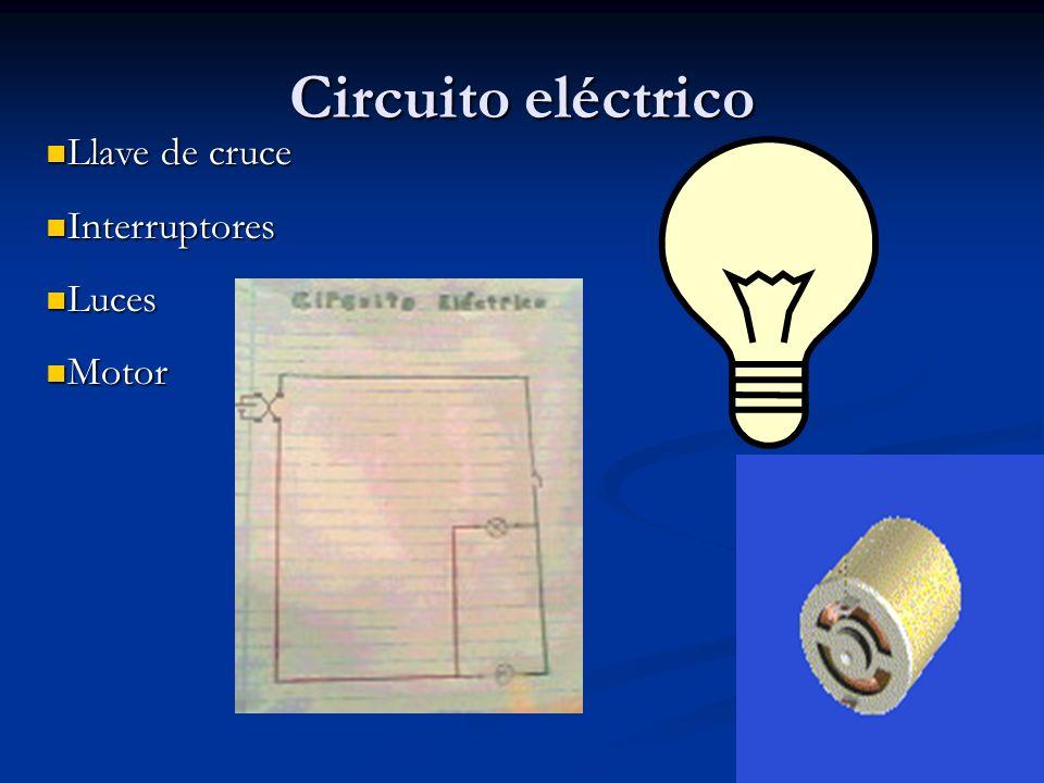 Circuito eléctrico Llave de cruce Interruptores Luces Motor