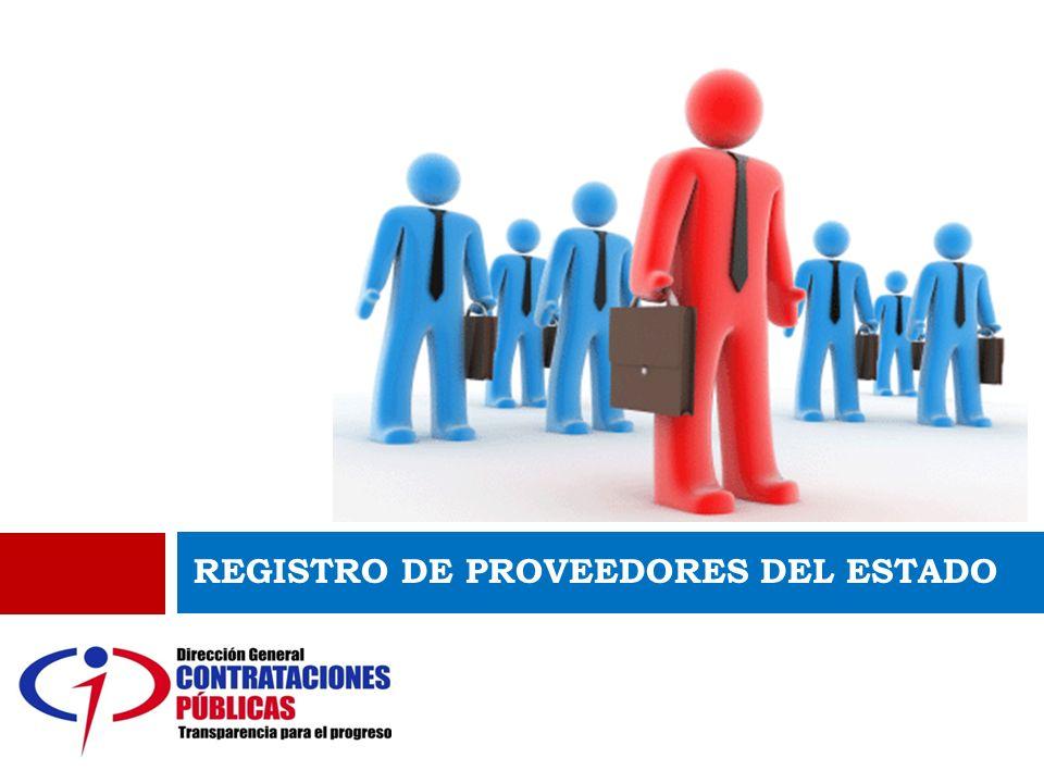 REGISTRO DE PROVEEDORES DEL ESTADO