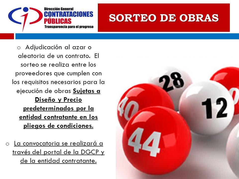 SORTEO DE OBRAS