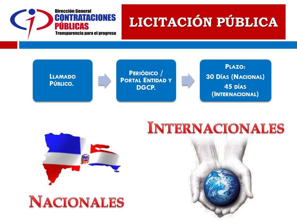 Periódico / Portal Entidad y DGCP.