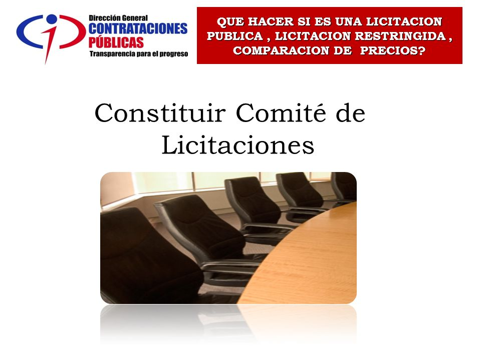 Constituir Comité de Licitaciones