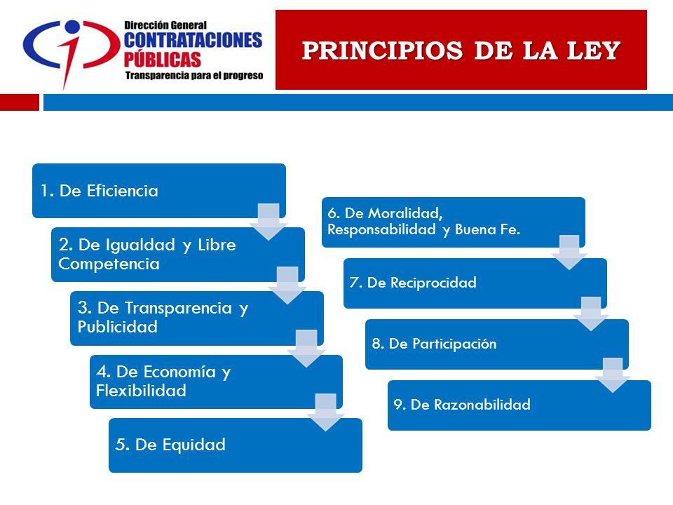 PRINCIPIOS DE LA LEY 1. De Eficiencia