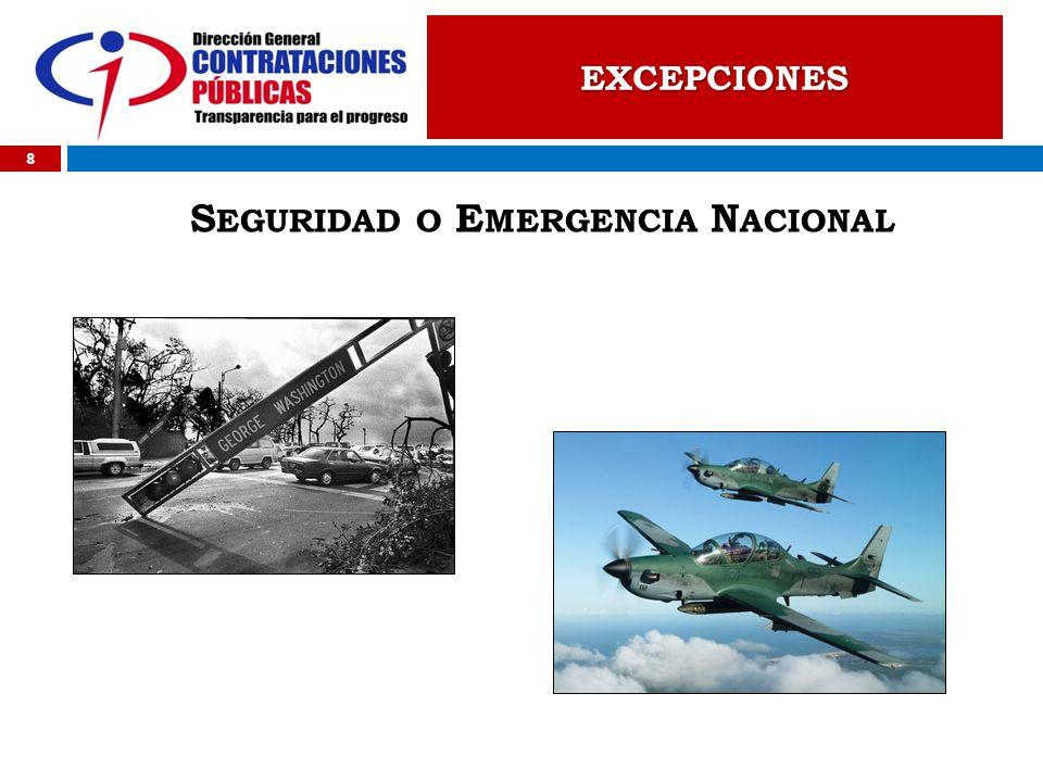 Seguridad o Emergencia Nacional
