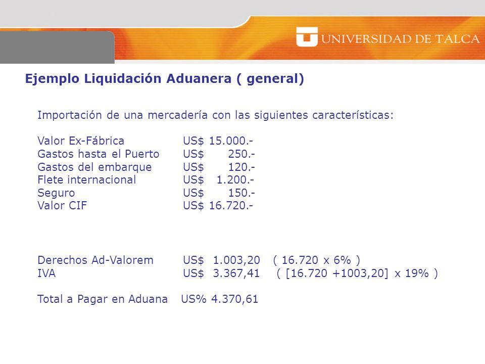 Ejemplo Liquidación Aduanera ( general)