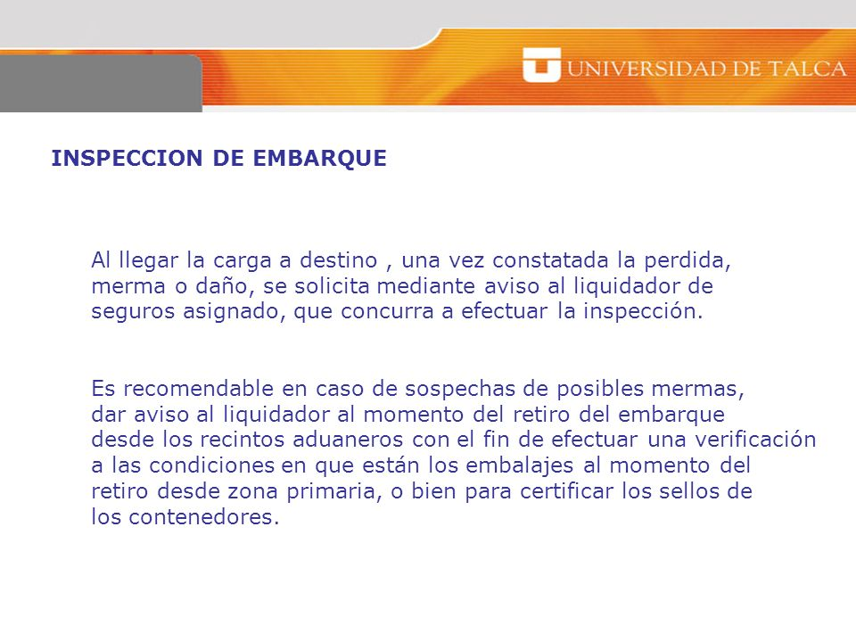 INSPECCION DE EMBARQUE