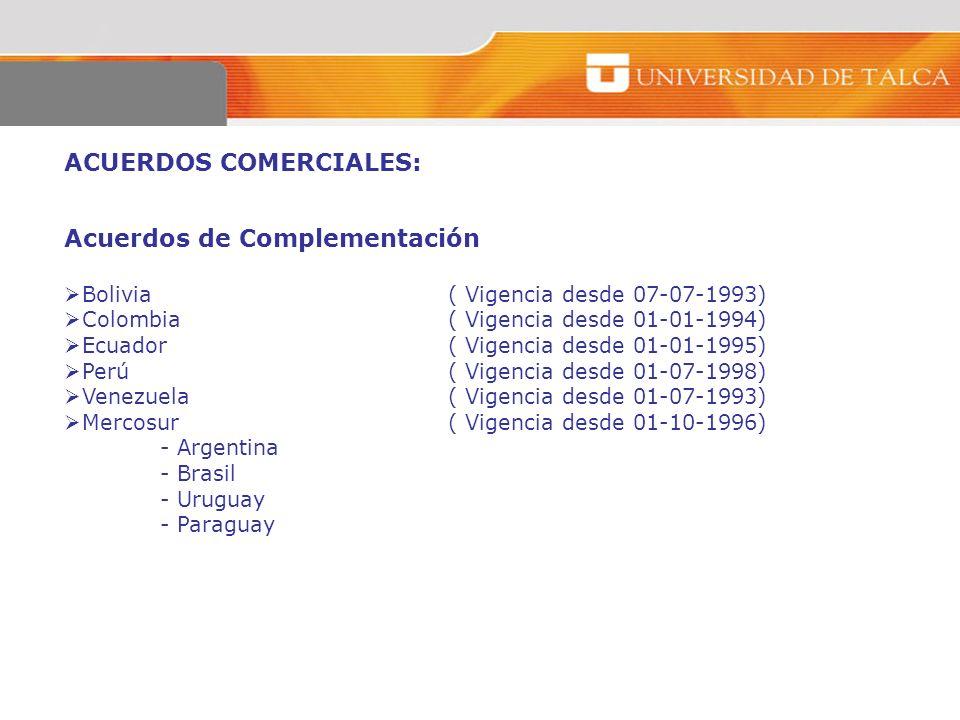 ACUERDOS COMERCIALES: