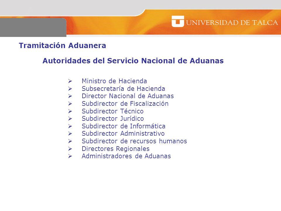 Autoridades del Servicio Nacional de Aduanas