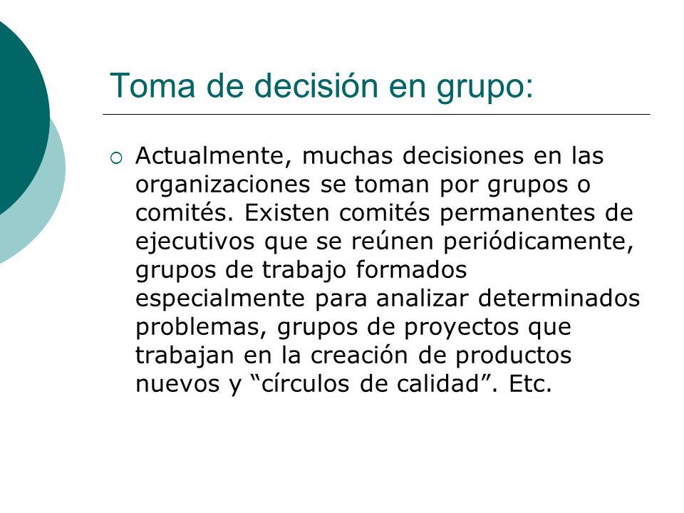 Toma de decisión en grupo: