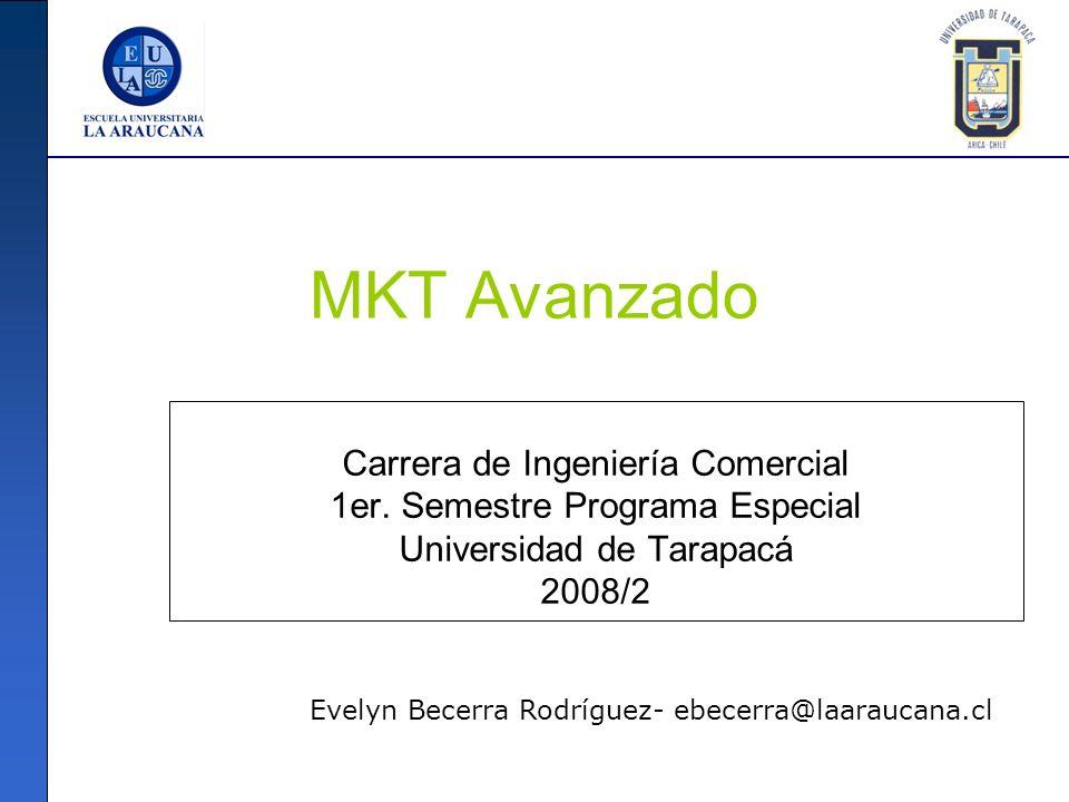 MKT Avanzado Carrera de Ingeniería Comercial