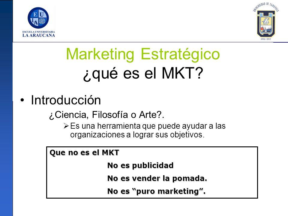 Marketing Estratégico ¿qué es el MKT