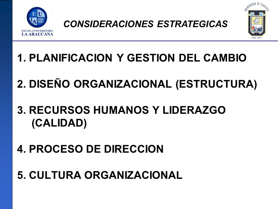 1. PLANIFICACION Y GESTION DEL CAMBIO