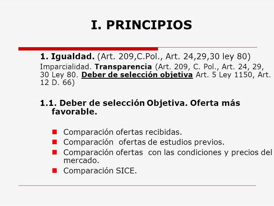 1. Igualdad. (Art. 209,C.Pol., Art. 24,29,30 ley 80)