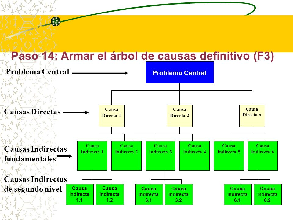 T2 - Elaborar el Árbol de Problemas (F1 a F3)