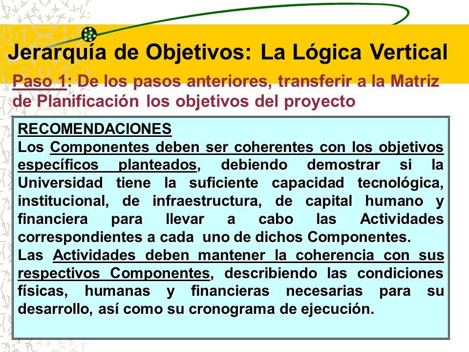 Jerarquía de Objetivos: La Lógica Vertical