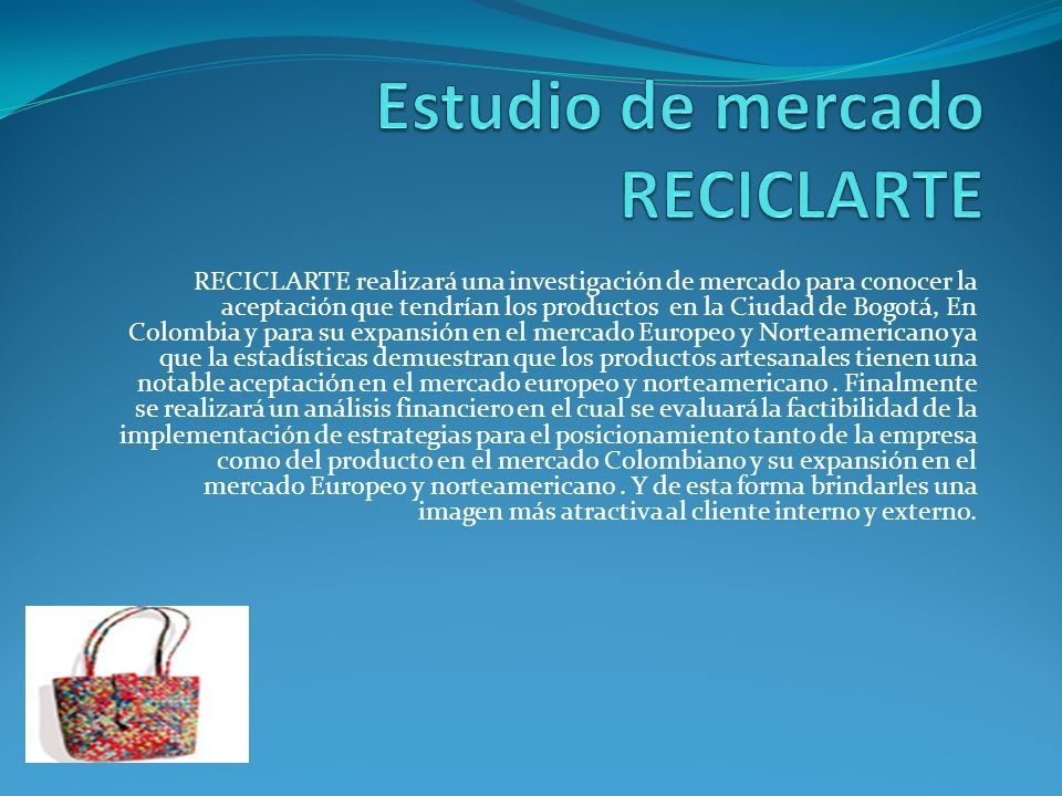 Estudio de mercado RECICLARTE