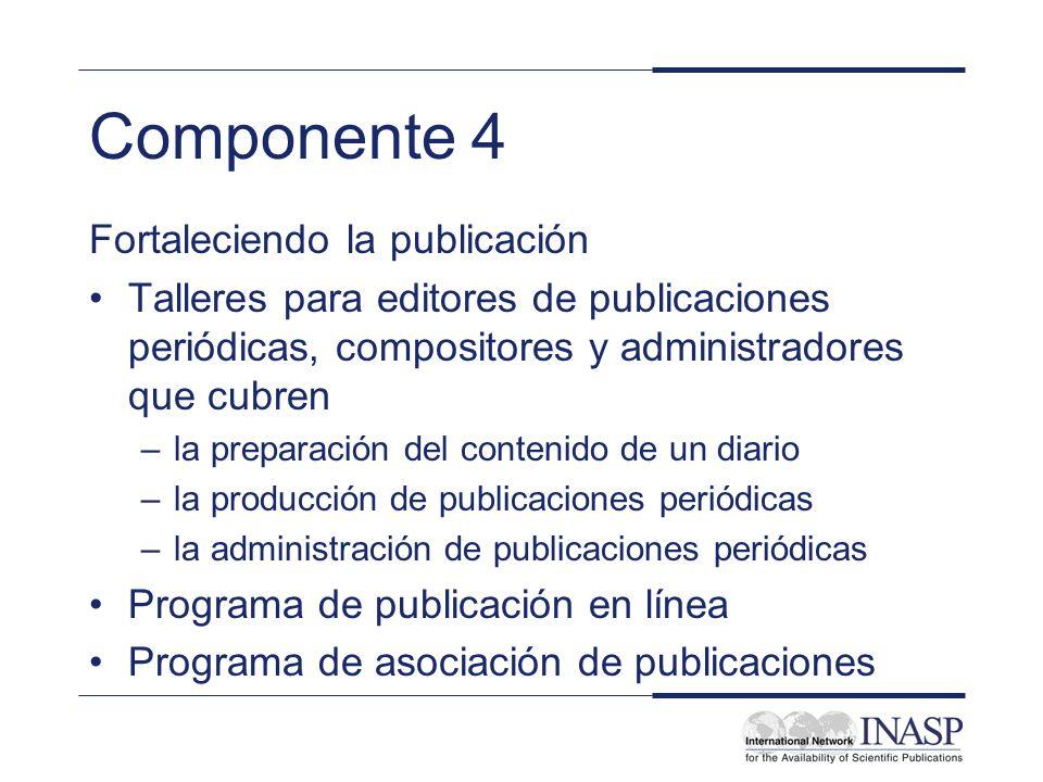 Componente 4 Fortaleciendo la publicación