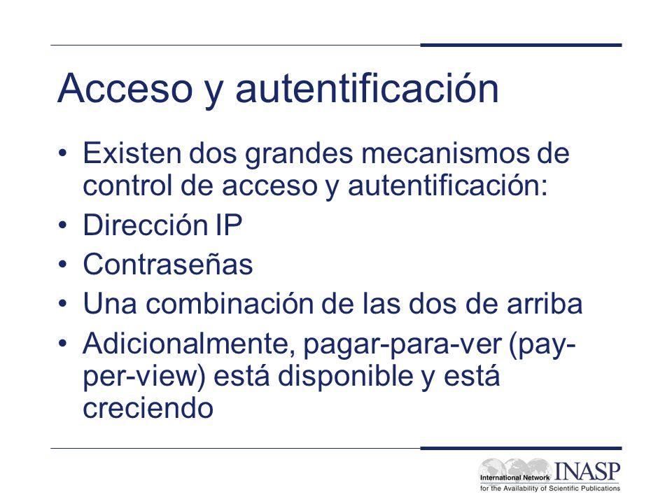 Acceso y autentificación