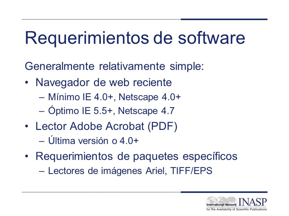 Requerimientos de software