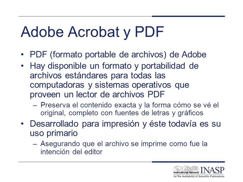 Adobe Acrobat y PDF PDF (formato portable de archivos) de Adobe