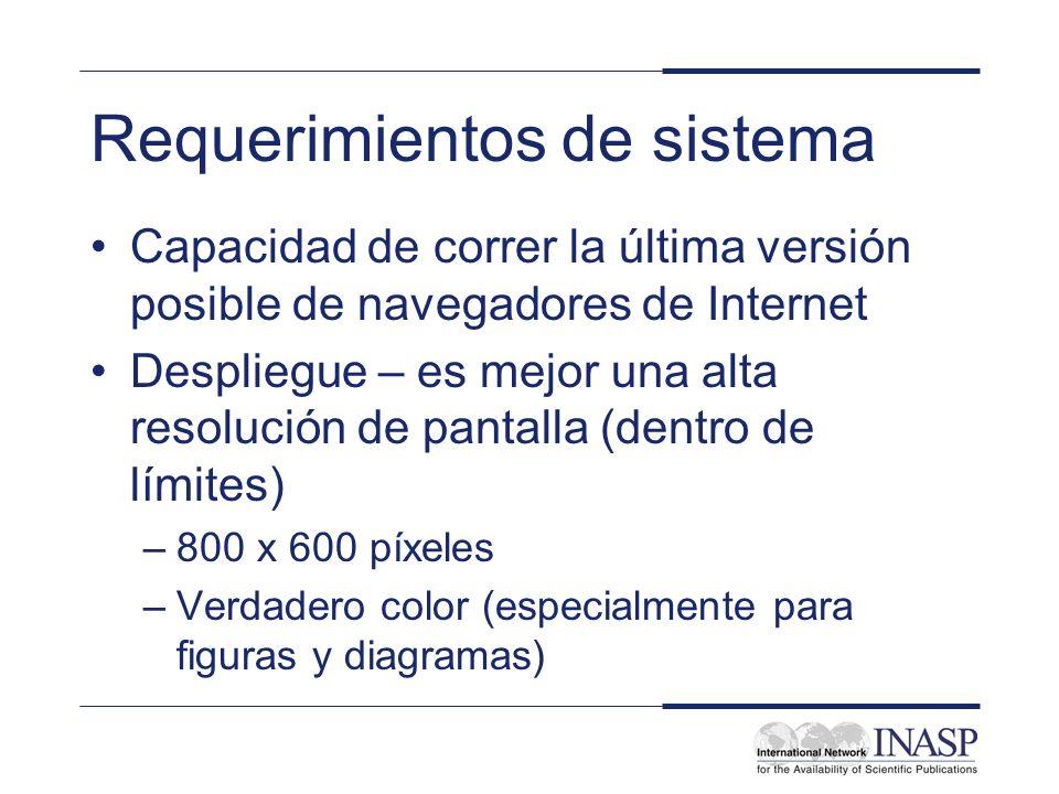 Requerimientos de sistema