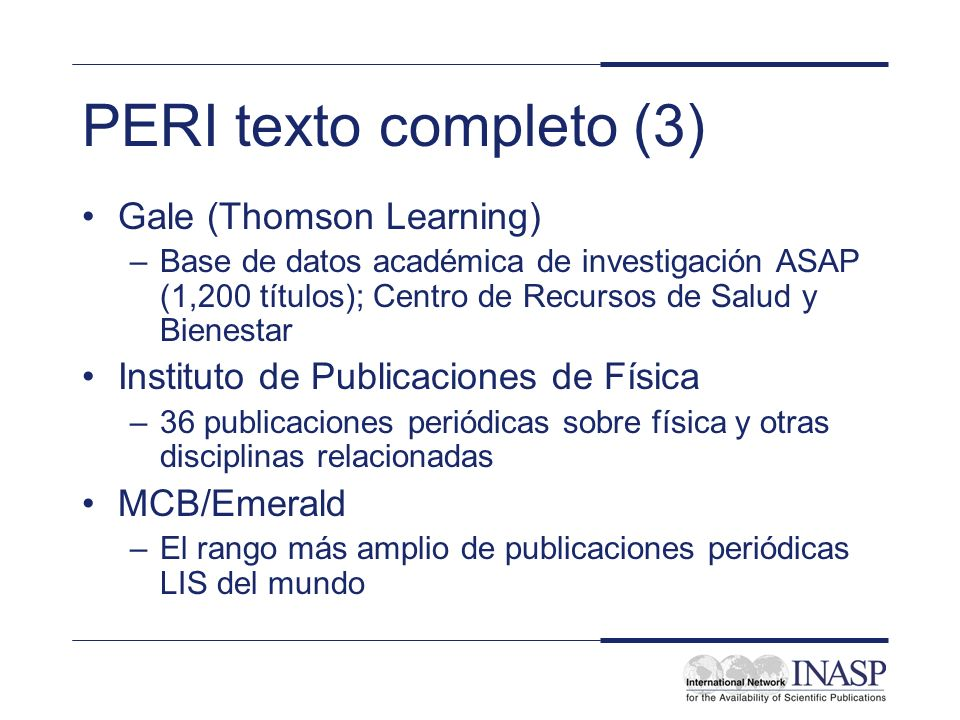 PERI texto completo (3) Gale (Thomson Learning)